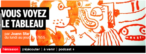 PODCASTS de Joann Sfar sur France Inter