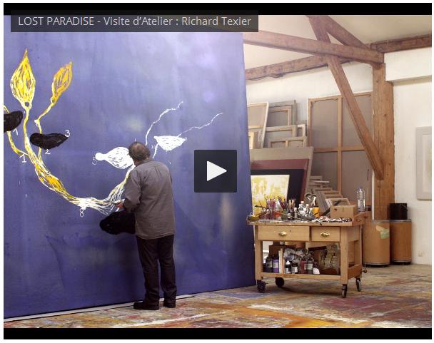 LOST PARADISE – Visite d'Atelier : Richard Texier – vidéo Dailymotion