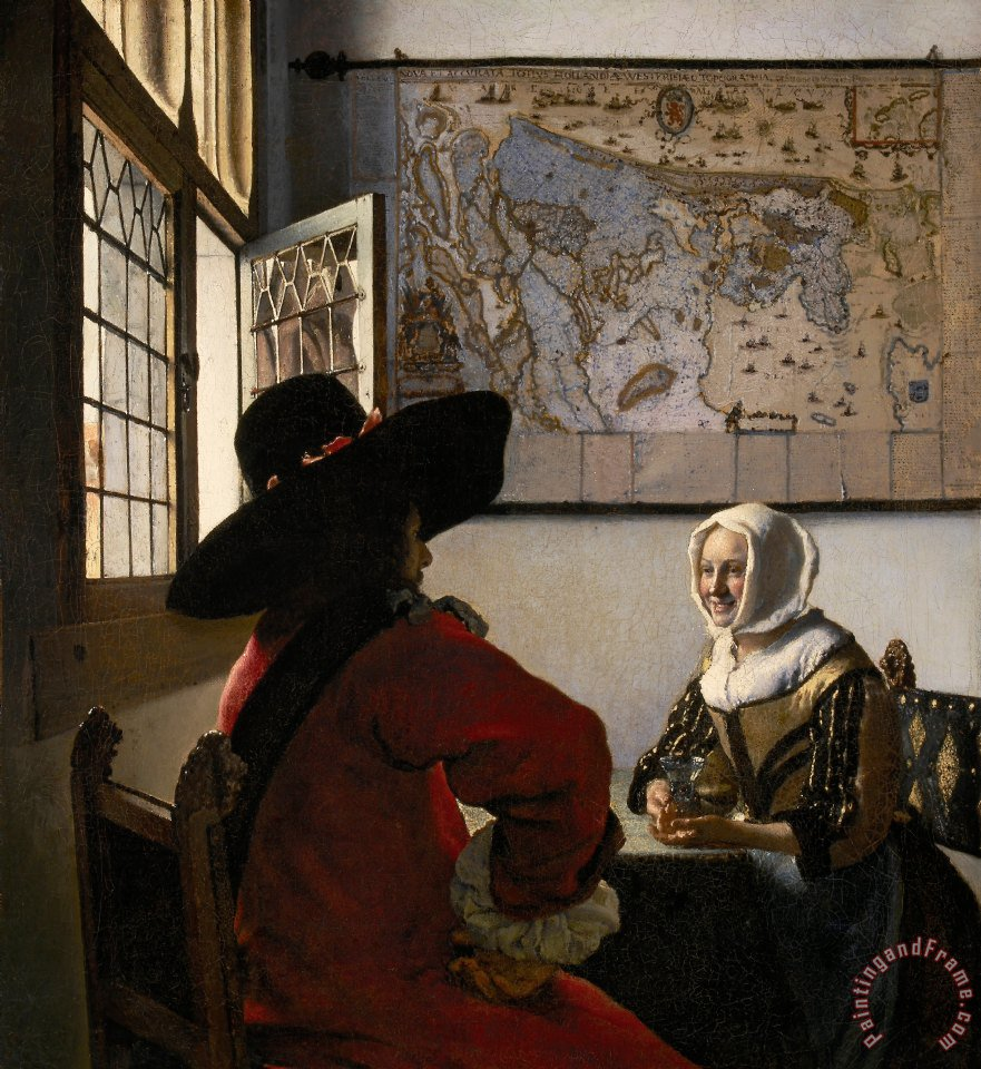 Johannes Vermeer, Officer and Laughing Girl (c. 1655–60). Courtesy of the Frick Collection, New York.